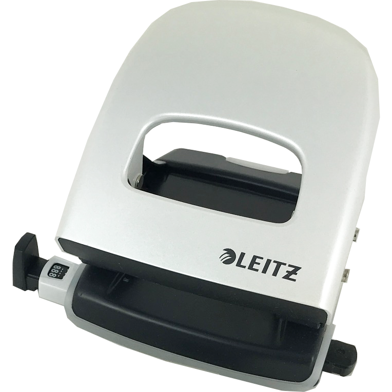 Leitz WOW NeXXT 30 Hole Punch White/Silver
